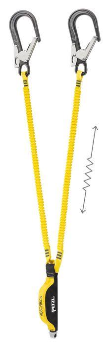 Absorbica Flex Y MGO Elastisk falldämpande Y slinga med Hajkrok 150 cm