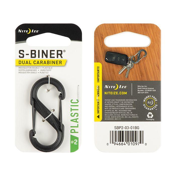 S-Biner Plastic Size #2 - Blac