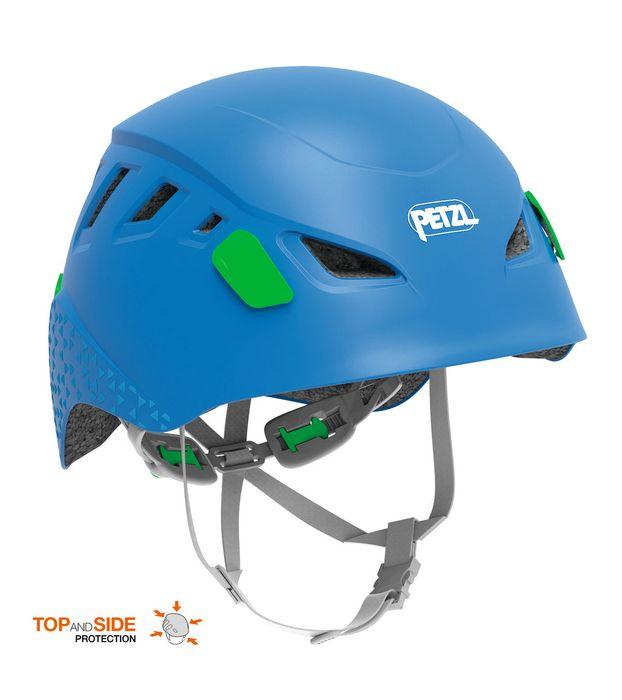 Blå barnhjälm för klättring och cykling