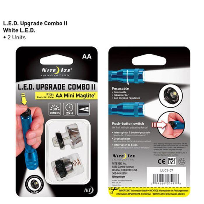 LED Upgrade Combo II fits AA Mini Maglite®