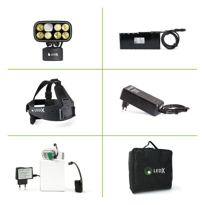 Cobra 6 500 X-pand Kit, Backup light with battery and automatic charge