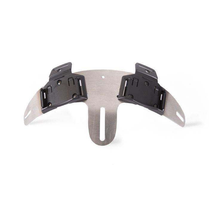 Helmet mount for Enduro double, 2 lamp holders
