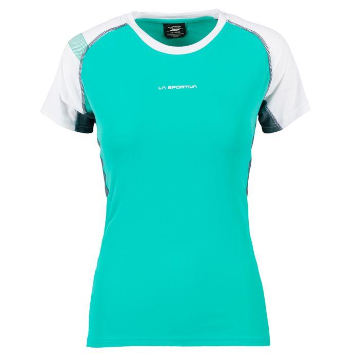 Move T-Shirt W Aqua/White