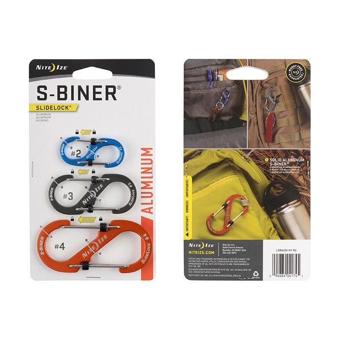 S-Biner® SlideLock® Aluminum - 3 Pack