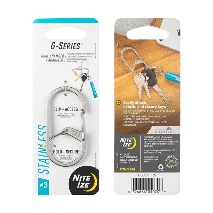 G-Series™ Dual Chamber Carabiner #3 - Stainless Steel