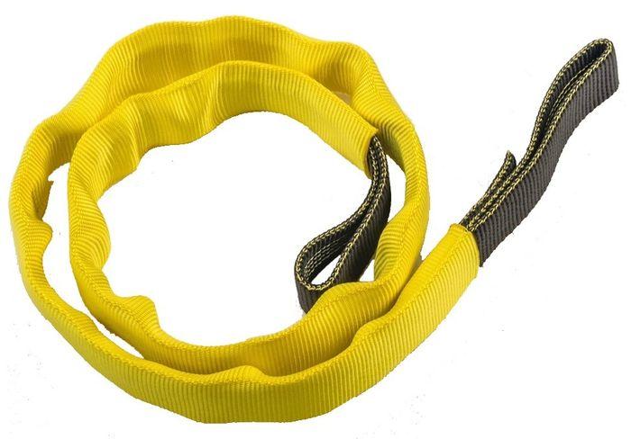 Nylon Sling  18mm  120cm  24kN  Svart / röd - med gult skydd