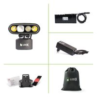 Mamba 4 000 X-pand Lamp, battery 108 Wh and automatic charger, holder