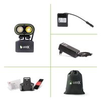 Kaa 2 000 Wide Lamp, battery and automatic charger, holder for helmet