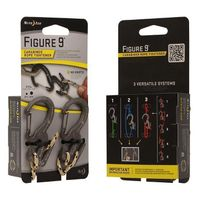 Figure 9® Carabiner Rope Tightener - Small 2 Pack with Rope - Black