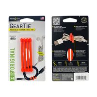 Gear Tie 3-Bright Orange 4pk