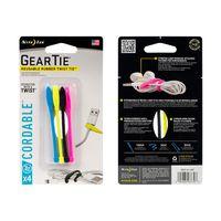 Gear Tie® Cordable™ Twist Tie 3 in. - 4 Pack - Black
