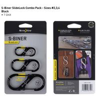 S-Biner® SlideLock® - 3 Pack - Black