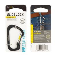 SlideLock® Carabiner #3 - Black