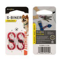 S-Biner® TagLock™ Aluminum - 2 Pack - Red