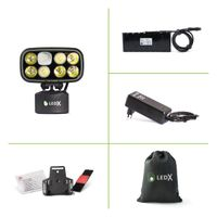Cobra 6 500 X-pand Lamp, battery and automatic charger, holder for hel