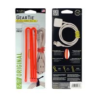 Gear Tie 12-Bright Orange 2pk