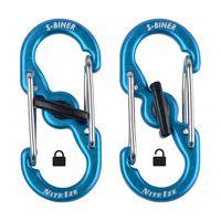 S-Biner® TagLock™ Aluminum - 2 Pack - Blue