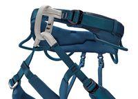 ryggen på klättersele blå