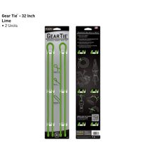 Gear Tie 32-Lime 2pk