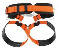 orange/svart klättersele för grotta