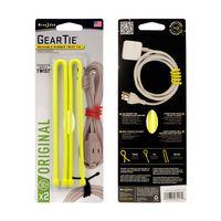 Gear Tie® Reusable Rubber Twist Tie™ 12 in. - 2 Pack - Neon Yellow