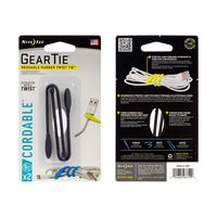 Gear Tie® Cordable™ Twist Tie 6 in. - 2 Pack - Black