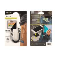 Hitch™ - Phone Anchor + Tether - Clear Tether / Stainless MicroLocks