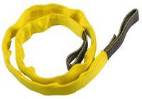 Nylon Sling  25mm  50cm  30kN Svart / gul  - med gult skydd
